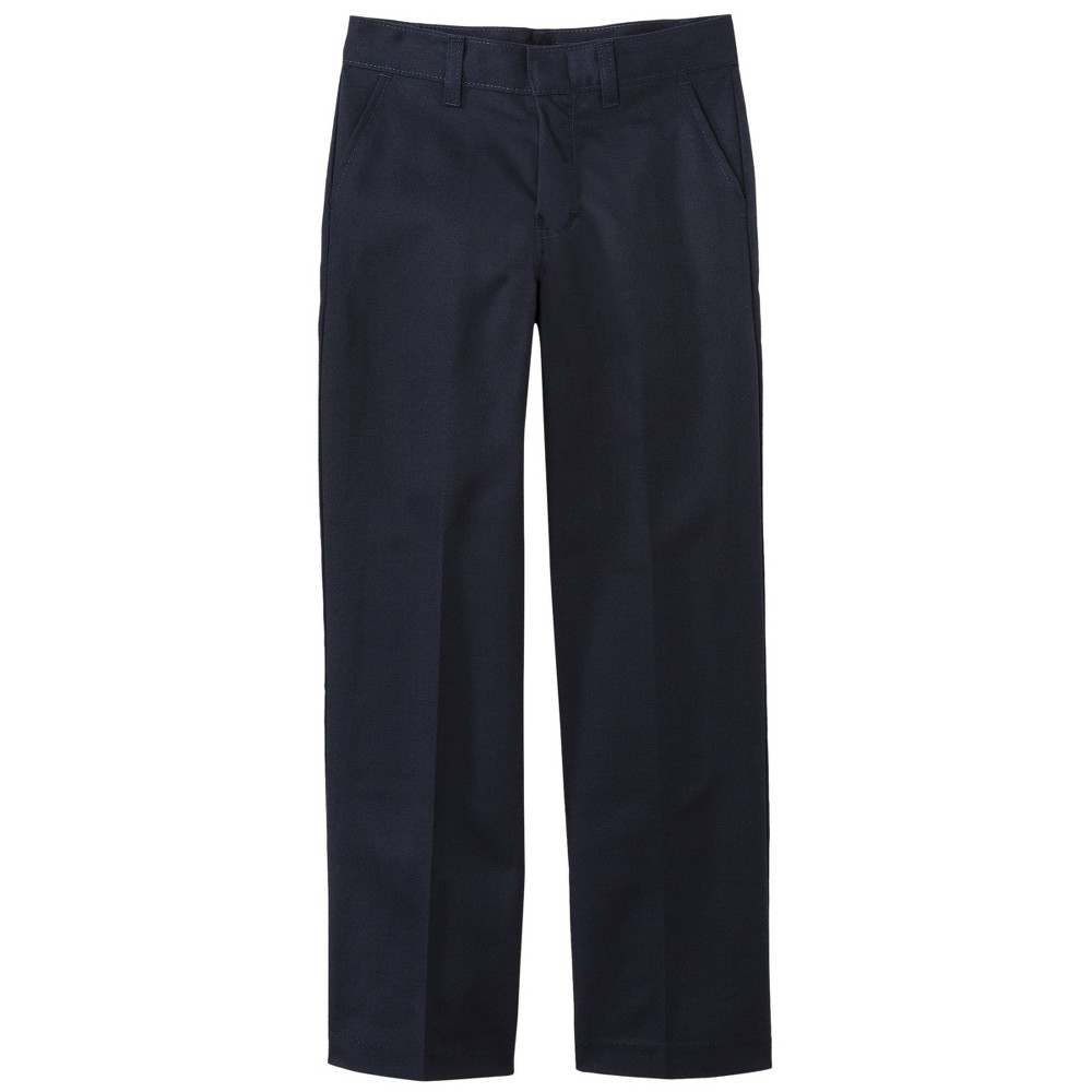 Dickies Boys' Classic Fit Flat Front Uniform Chino Pants - Dark Navy 14 Slim