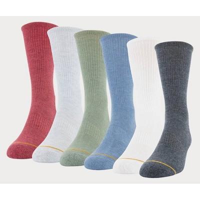 Signature Gold by GOLDTOE Men's Garment Dye Crew Socks - 6-12.5