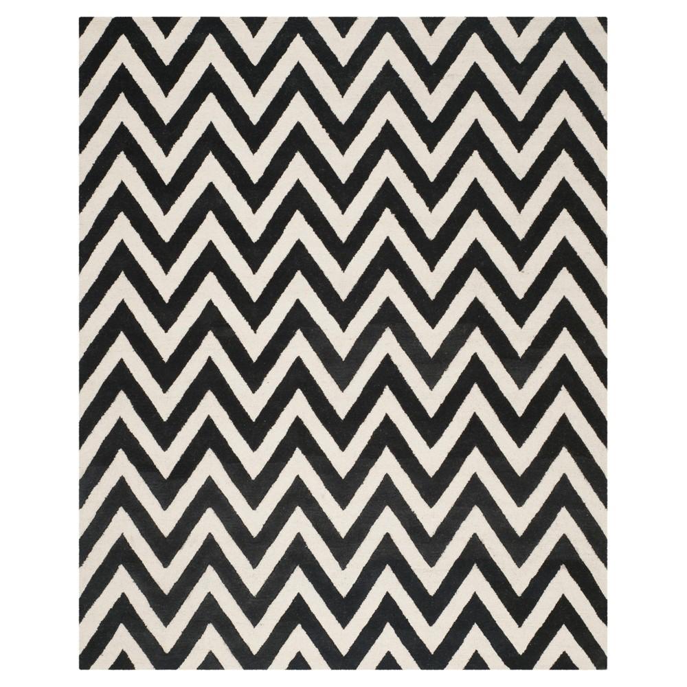 Dalton Textured Rug - Black / Ivory (8' X 10') - Safavieh, Black/Ivory