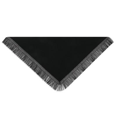 DEMDACO Triangle Knit Scarf with Fringe - Black 80 x 32 - Black
