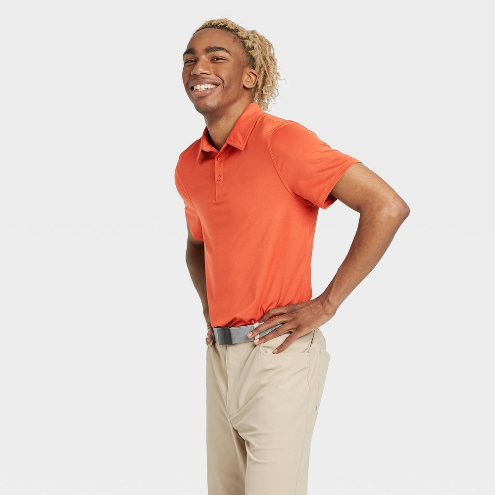 Men's Jersey Golf Polo Shirt - All in Motion Orange XXL was $20.0 now $12.0 (40.0% off)