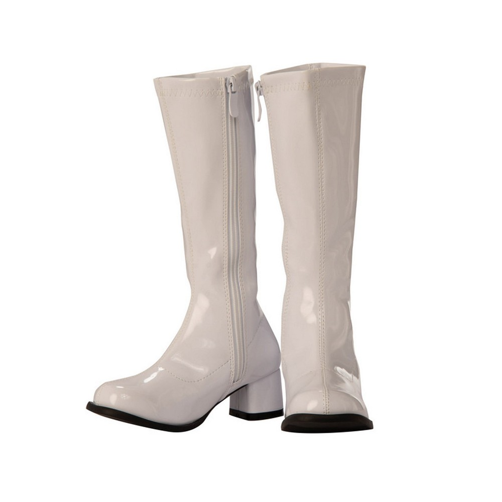 Image of Halloween Girls' GoGo Costume Boots - White 2/3, Girl's