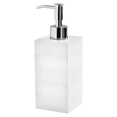 Lacquer Stripe Lotion Dispenser - White - Cassadecor