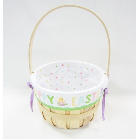 "9"" Chipwood Easter Basket with Happy Easter Liner - Spritz™ - image 1 of 1"