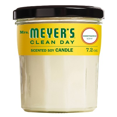 Mrs. Meyer's Honeysuckle Large Jar Candle - 7.2oz