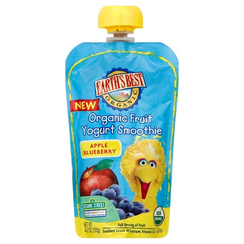 Earth's Best Fruit Yogurt Smoothie, Apple Blueberry - 4.2oz - image 1 of 2