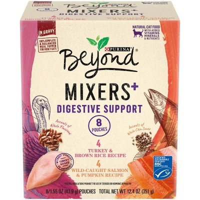 Purina Beyond Mixers Digestive Support Poultry & Fish In Gravy Wet Cat Food - 1.55oz/8ct Variety Pack