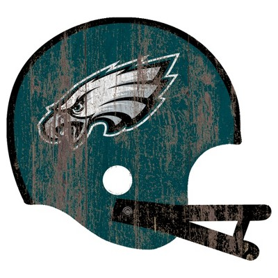 NFL Fan Creations Distressed Helmet Cutout Sign