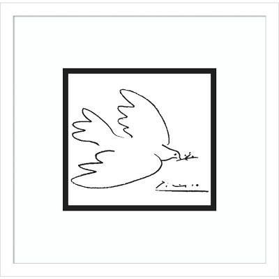 Dove of Peace by Pablo Picasso Framed Wall Art Print - Amanti Art