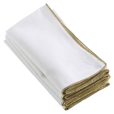 4pk Gold Luana Design Napkin 20  - Saro Lifestyle®