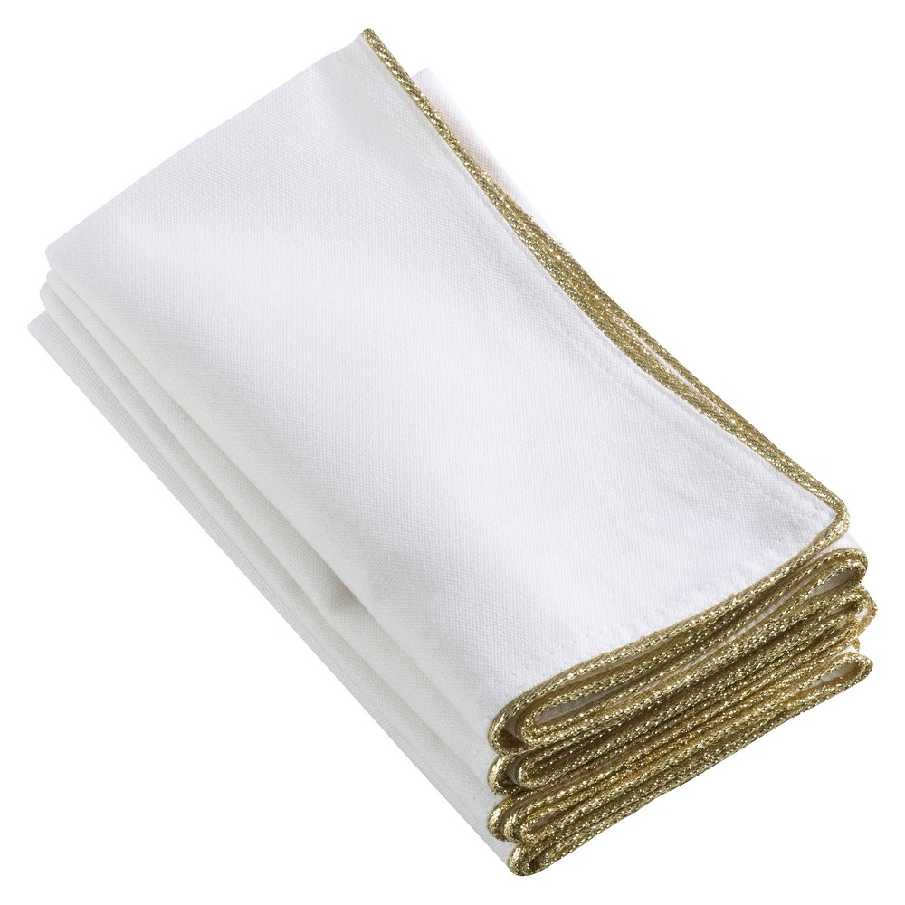 4pk Gold Luana Design Napkin 20 - Saro Lifestyle