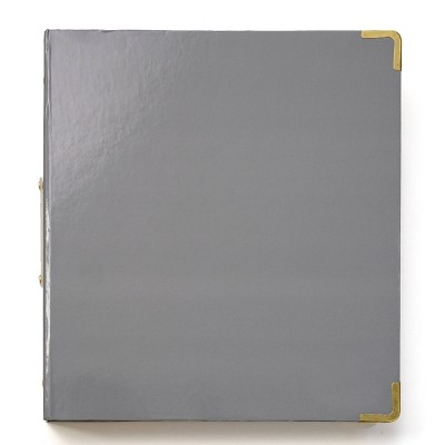 "1.5"" Round Ring Binder Signature Charcoal - Russell+Hazel"