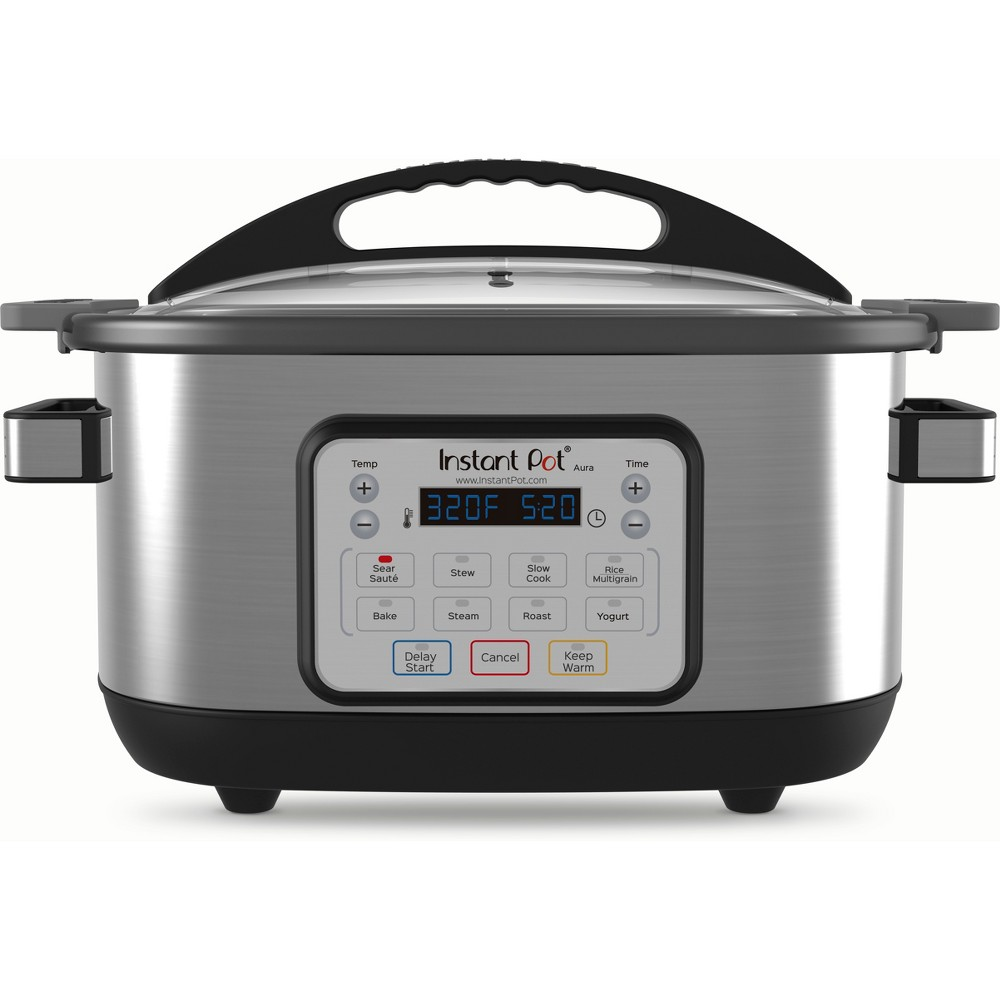 Image of Instant Pot 6qt Aura Multi Cooker, Silver