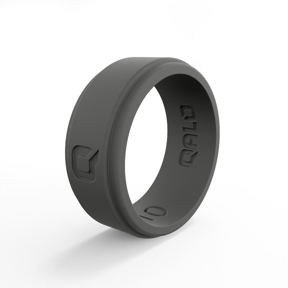 Qalo Standard Men's Flat Step Q2X Ring Size 12 - Charcoal, Gray
