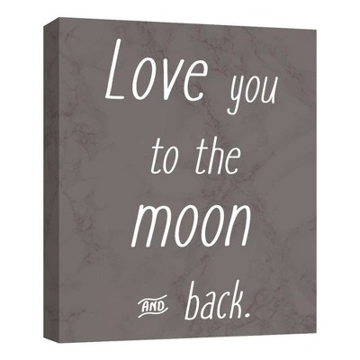 Love You To The Moon I Decorative Canvas Wall Art 11 x14  - PTM Images