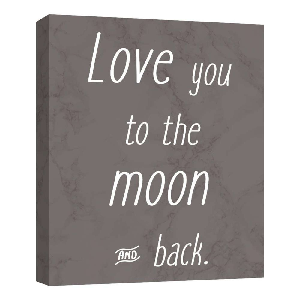 Love You To The Moon I Decorative Canvas Wall Art 11