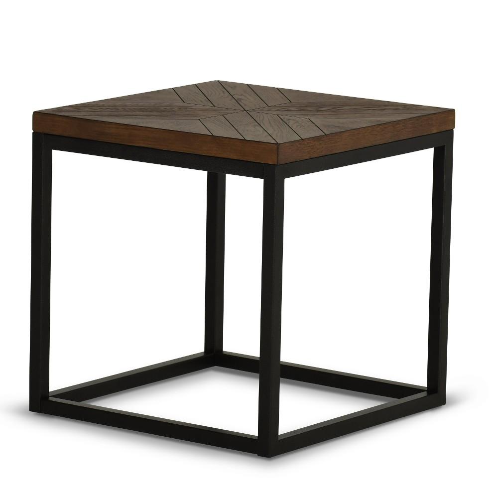 Aleka Modern End Table Dark Oak - Steve Silver