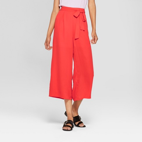 fb6b4a2745efc Women s Wide Leg Belted Pants -   201 clair Red L   Target