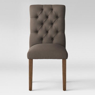 Brookline Tufted Dining Chair - Gray - Ships Flat - Threshold™