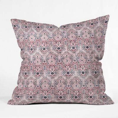 Holli Zollinger Geometric Square Throw Pillow Purple - Deny Designs