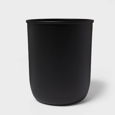 Solid Bathroom Wastebasket Black - Project 62™