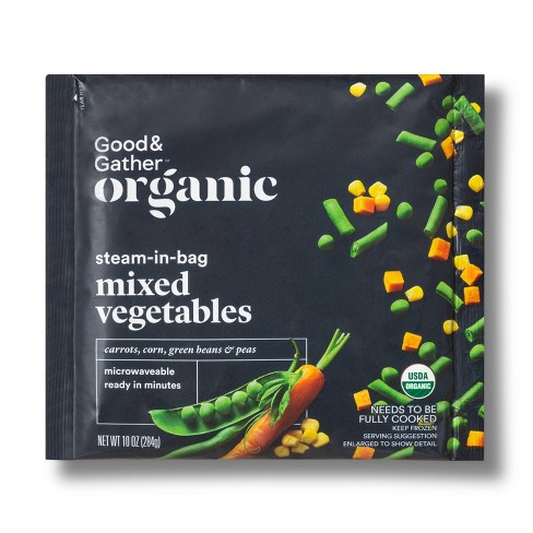 Organic Frozen Steam-In-Bag Mixed Vegetables - 10oz - Good & Gather™ - image 1 of 2