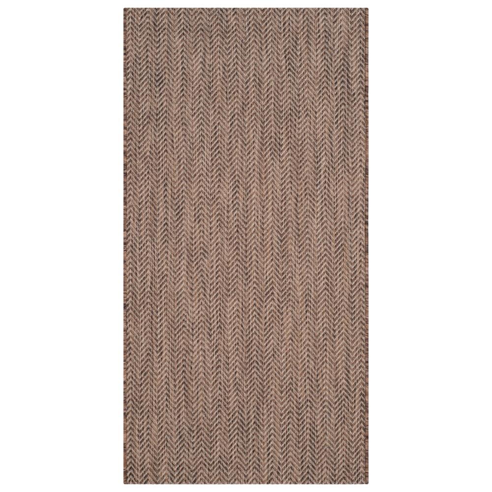 Positano Rectangle 2'7 X 5' Outdoor Rug - Brown / Beige - Safavieh
