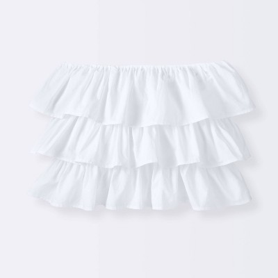 Crib Skirt Ruffle - Cloud Island™ White