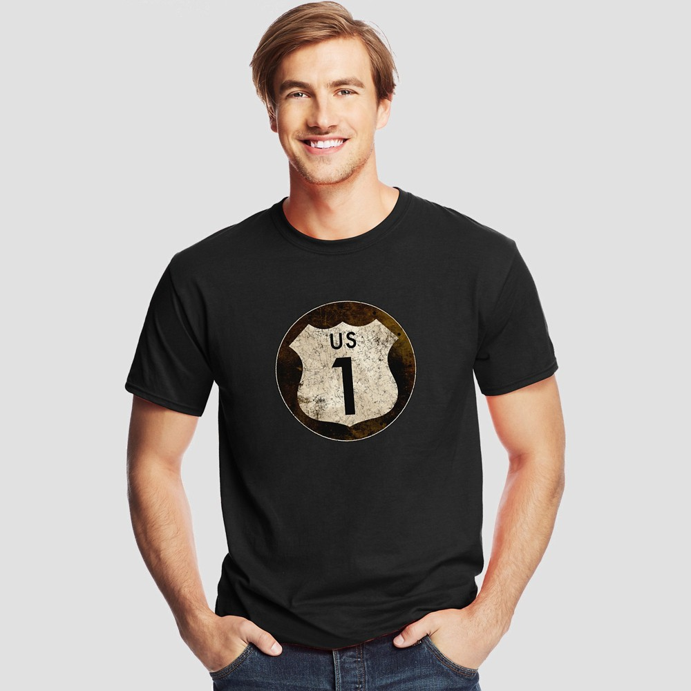 Hanes Men's Short Sleeve Graphic T-Shirt - Night Black M