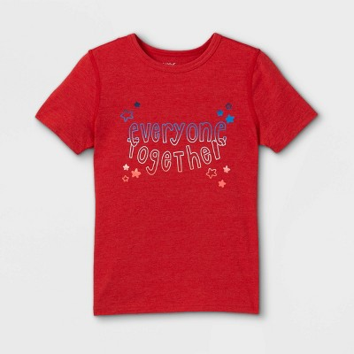 Boys' Adaptive 4th of July Short Sleeve Graphic T-Shirt - Cat & Jack™ Red