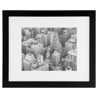 """16"""" x 20"""" Frame Matted Black - Gallery Solutions"""