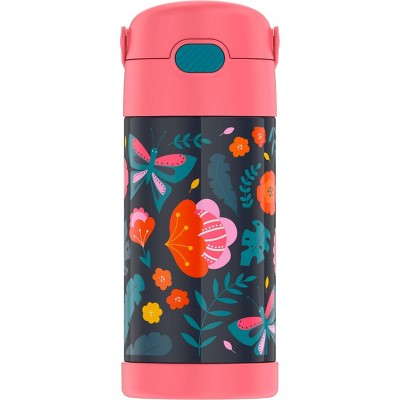Thermos 12oz FUNtainer Water Bottle with Bail Handle - Jungle Floral