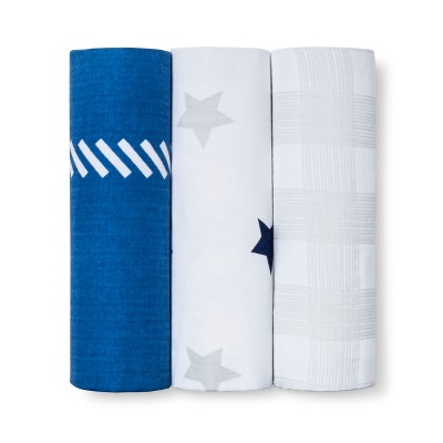 Muslin Blankets Homespun Blankets 3pk - Cloud Island™ Gray