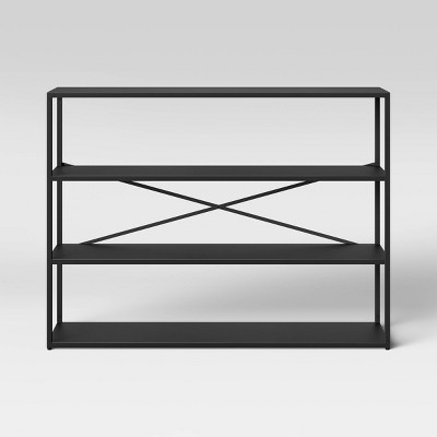 3 Shelf Glasgow Horizontal Metal Bookshelf Black - Project 62™