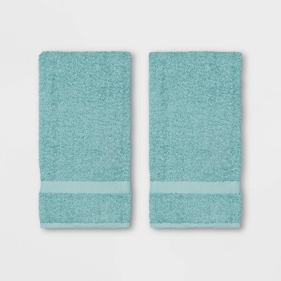 2pk Hand Towel Aqua - Room Essentials™