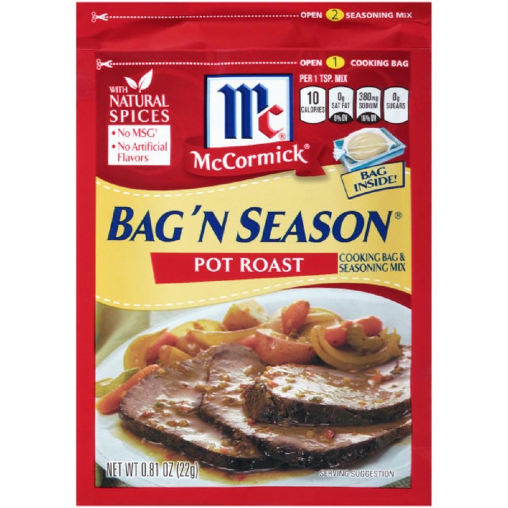 McCormick Bag 'N Season Cooking Bag and Pot Roast Seasoning Mix .81 oz