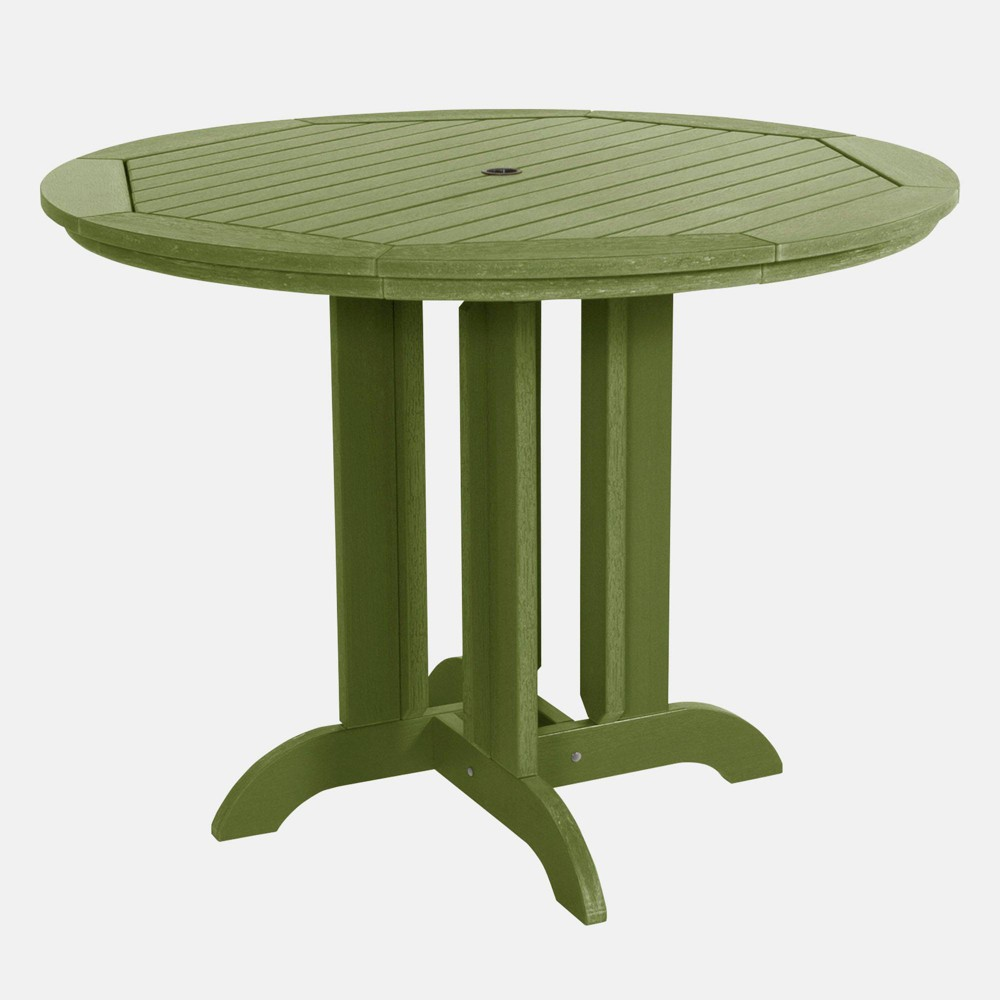 """Image of """"48"""""""" Round Counter Patio Dining Table Dried Sage - highwood, Dried Green"""""""