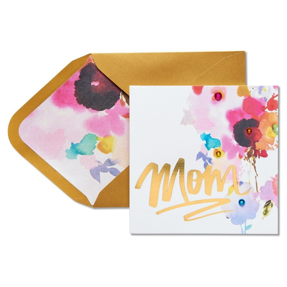 Papyrus Bright Floral Mother's Day Card with Rhinestones, Multi-Colored