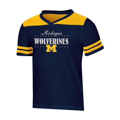 the latest 8c93f 3390b NCAA Girl s Heather Faison T-Shirt Michigan Wolverines