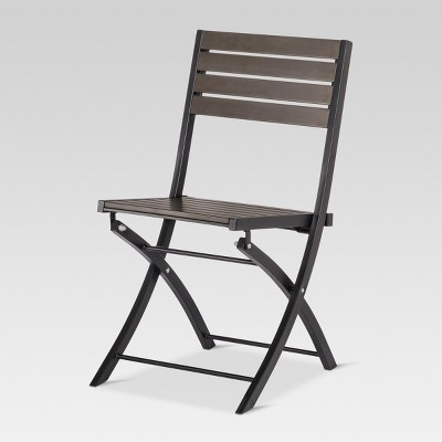 Bryant Faux Wood Folding Patio Bistro Chair   Project 62™ : Target