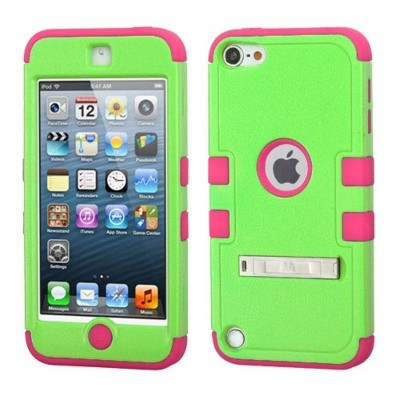 MYBAT For Apple iPod Touch 5th Gen/6th Gen Green Hard Hybrid Case Cover w/stand