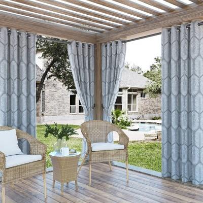 Borneo Tropical Foliage Indoor/Outdoor UV Protectant Grommet Top Room Darkening Curtain Panel - Sun Zero