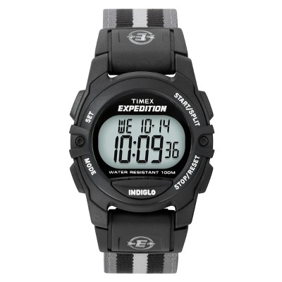 Timex Expedition Digital Watch with Nylon Strap - Black/Gray T49661JT