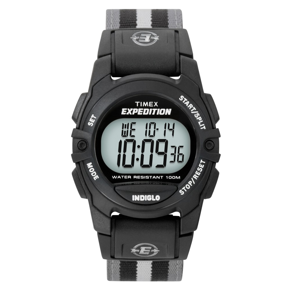 Timex Expedition Digital Watch With Nylon Strap Black Gray T49661jt