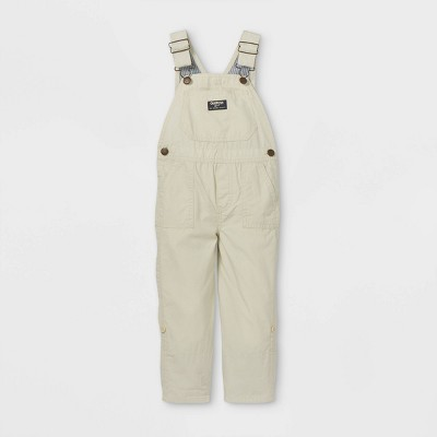 OshKosh B'gosh Toddler Boys' Overalls - Cream
