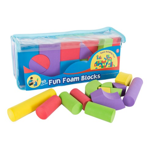 50-Piece Non-toxic EVA Foam Building Blocks by Hey! Play! - image 1 of 3