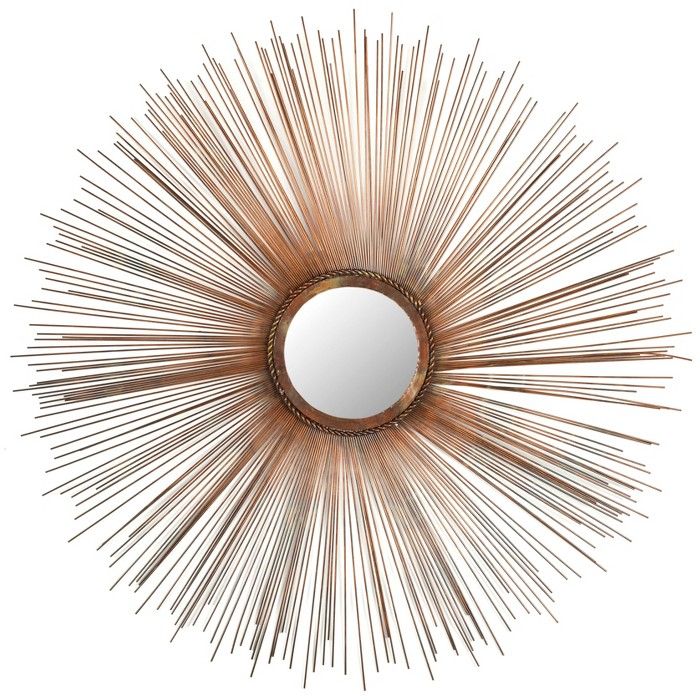 Sunburst Bedford Decorative Wall Mirror Burnt Copper -Safavieh® - image 1 of 4