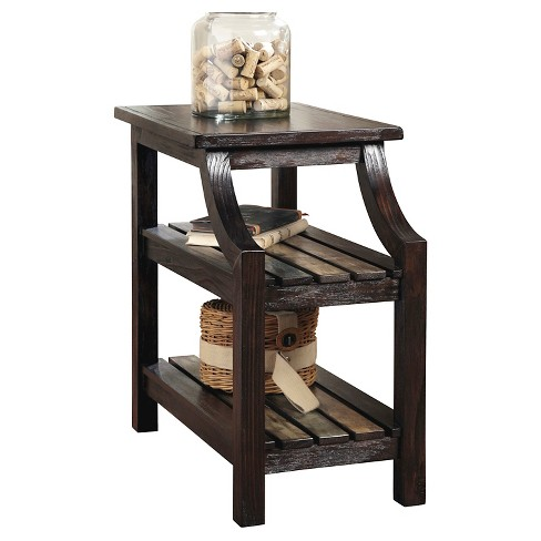 Mestler Chair Side End Table Rustic Brown Signature Design By