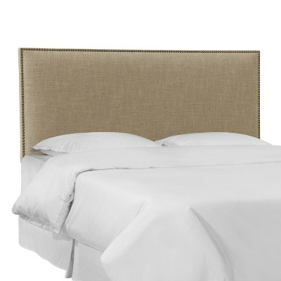 Arcadia Nailbutton Linen Headboard - Skyline Furniture