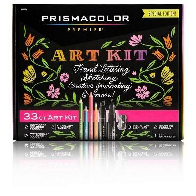 33pc Prismacolor Premier Marker & Colored Pencil Art Kit